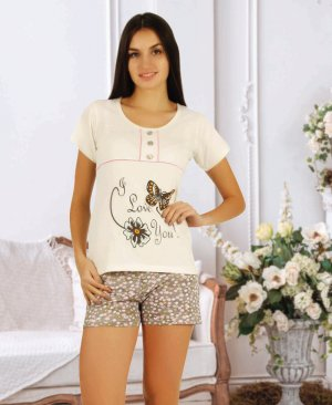 ladies shorts pajamas 65009
