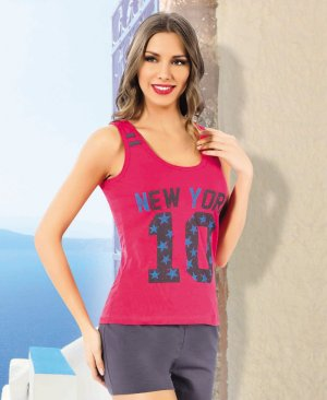 ladies shorts pajamas 65027
