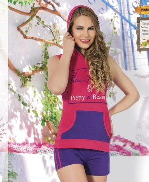 ladies shorts pajamas 65057