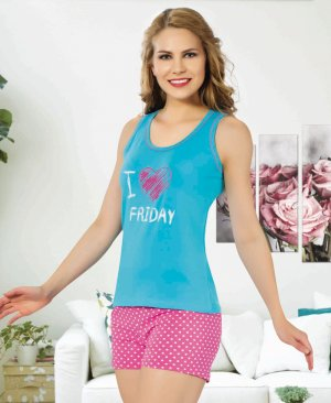 ladies shorts pajamas 65078