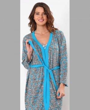 Women's Long Sleeve Gown Set