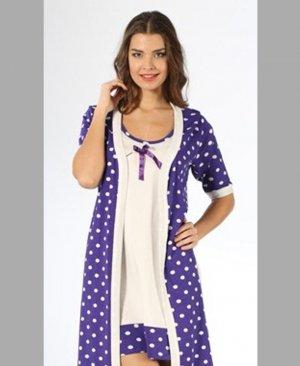 Women's Half Sleeve Gown Set