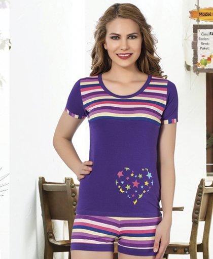 ladies shorts pajamas 65056